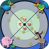 farm animals dart game for kids